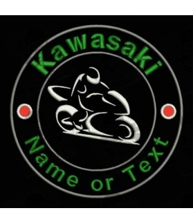 Embroidered patch KAWASAKI CUSTOMIZABLE