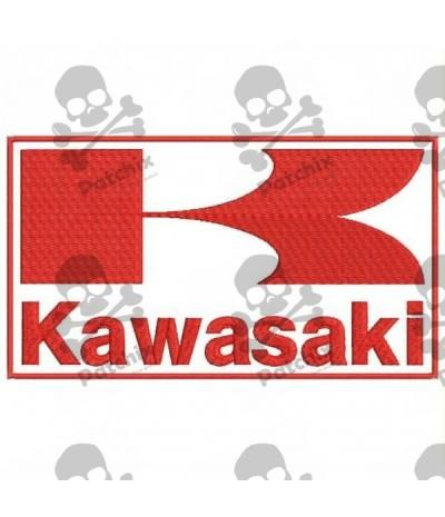 Embroidered patch KAWASAKI