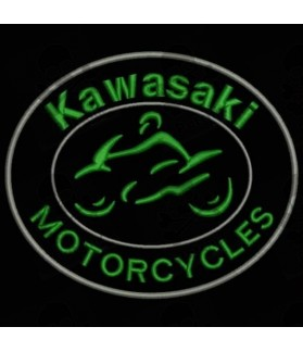 Embroidered patch KAWASAKI MOTORCYCLE