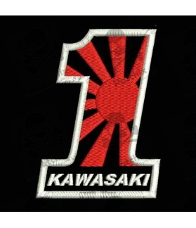 Embroidered patch KAWASAKI MOTORCYCLE N1 (Kamikaze)