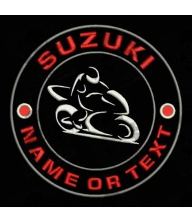 Embroidered patch SUZUKI CUSTOMIZABLE