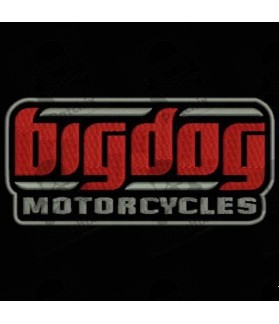 Embroidered patch BIGDOG MOTORCYCLES