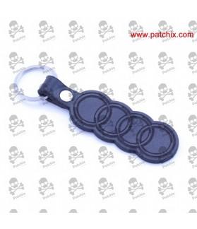 Key chain LEATHER AUDI LOGO