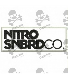 Embroidered Patch NITRO SNOWBOARD