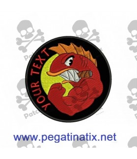 Embroidered Patch Iron Patch HELLFISH