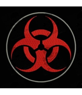 Embroidered patch BIOHAZARD