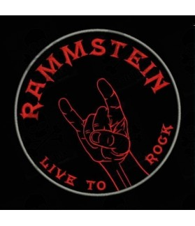 Embroidered patch RAMMSTEIN LIVE TO ROCK