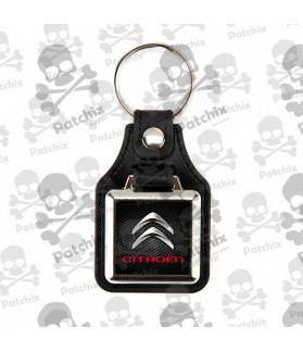 Key chain NICKEL LEATHER BACKGROUND CITROEN