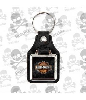 Key chain NICKEL LEATHER BACKGROUND HARLEY