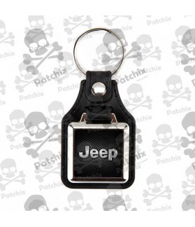 Key chain NICKEL LEATHER BACKGROUND JEEP