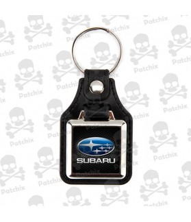 Key chain NICKEL LEATHER BACKGROUND SUBARU