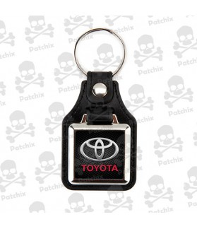 Key chain NICKEL LEATHER BACKGROUND TOYOTA