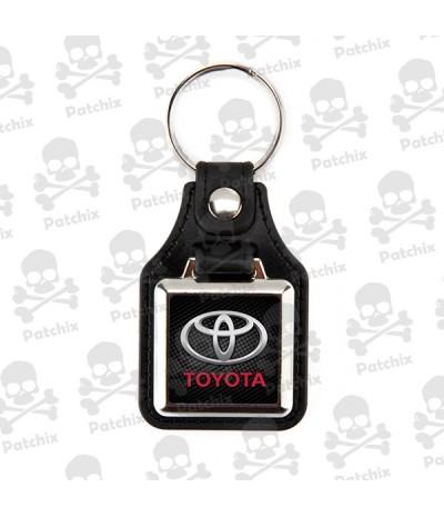 Key chain NICKEL LEATHER BACKGROUND TOYOTA