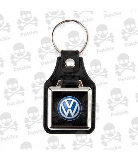 Key chain NICKEL LEATHER BACKGROUND VOLKSWAGEN