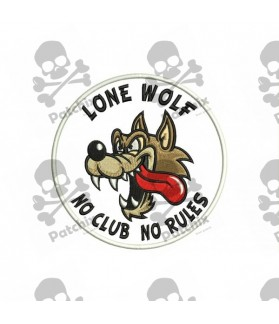 Iron patch WOLF (NO CLUBS NO RULES)