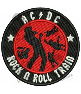 Embroidered patch AC-DC