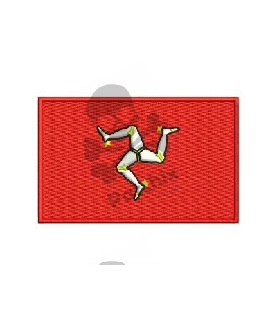Embroidered Patch Flag ISLE OF MAN
