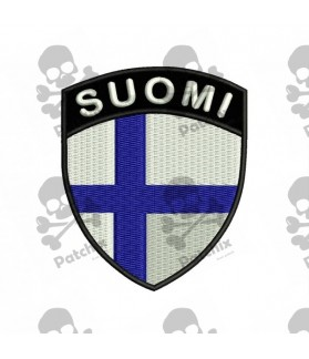 Embroidered patch FLAG COAT FINLANDIA
