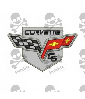 Embroidered patch CAR CORVETTE
