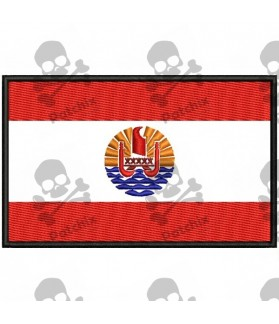 Embroidered Patch FLAG POLINESIA FRANCESA
