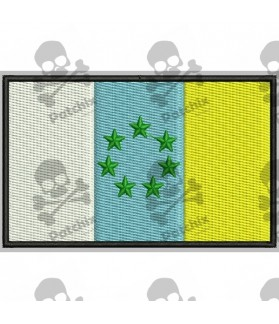 Embroidered Patch FLAG CANARIAS NACIONALISTA