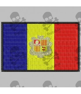 Embroidered patch ANDORRA FLAG