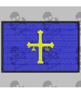 Embroidered patch FERNANDO ALONSO ASTURIAS FLAG