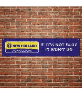 New Holland TRACTOR BANNER GARAJE