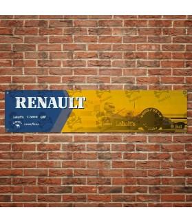 RENAULT Vintage BANNER GARAJE