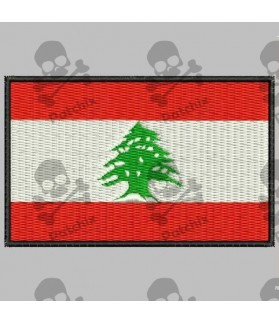 Embroidered patch LIBANO FLAG