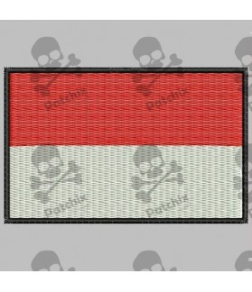Embroidered patch MONACO FLAG