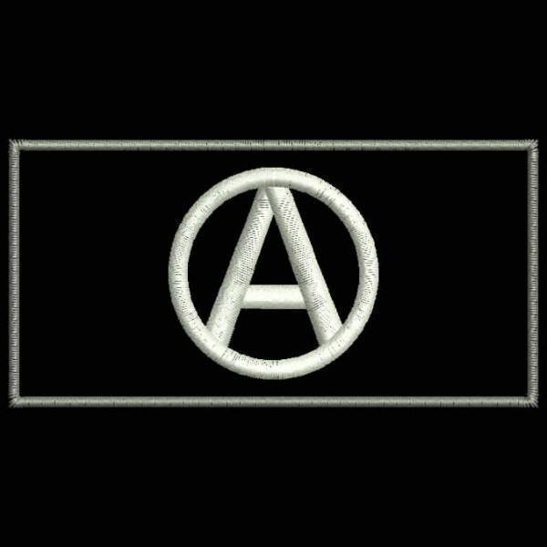 Embroidered Patch Anarchy Flag Patchix