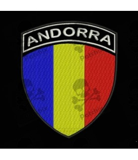 Embroidered patch ANDORRA FLAG COAT