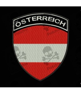 Embroidered patch AUSTRIAFLAG COAT