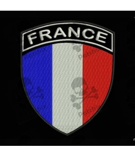 Embroidered patch FRANCE FLAG COAT