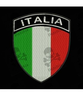 Embroidered patch ITALY FLAG COAT