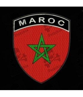 Embroidered patch MAROC FLAG COAT