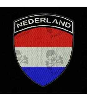 Embroidered patch NEDERLAND FLAG COAT