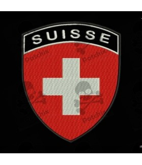 Embroidered patch SWITZERLAND FLAG COAT