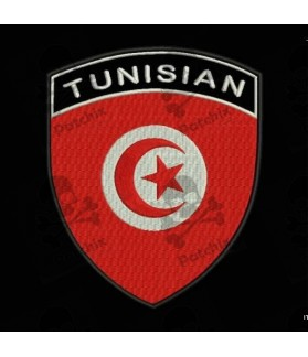 Embroidered patch TUNISIA FLAG COAT
