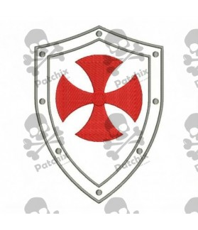Embroidered Patch TEMPLAR SHIELD