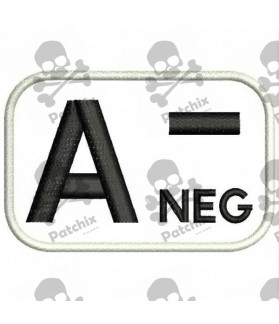 Embroidered patch BLOOD GROUP A-