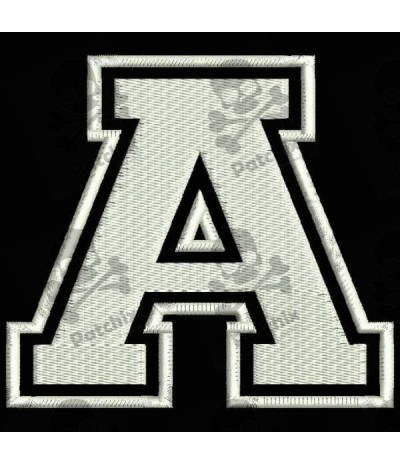 Embroidered Patch LETTER A