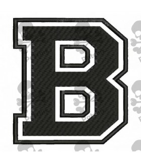 Embroidered Patch LETTER B