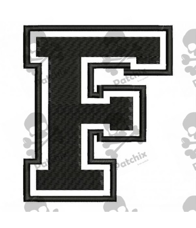 Embroidered Patch LETTER F