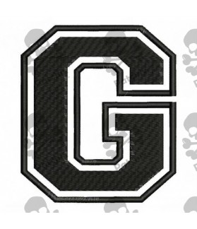 Embroidered Patch LETTER G
