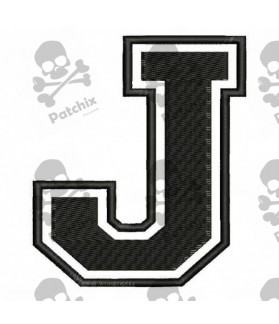 Embroidered Patch LETTER J
