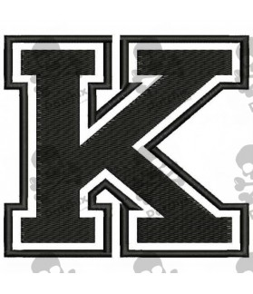 Embroidered Patch LETTER K