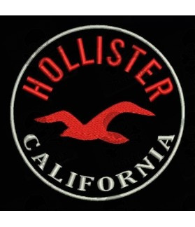 Embroidered Patch HOLLISTER CALIFORNIA