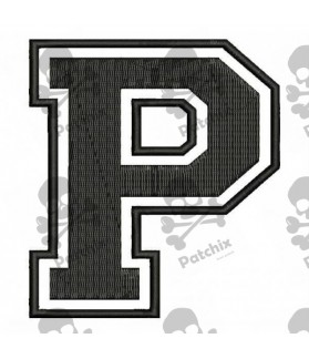 Embroidered Patch LETTER P